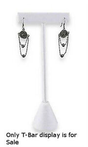 Faux Leather Earring Tree Displays In White Finish 5 3 4 H Inches Count Of 10