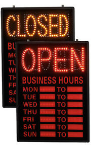 Open closed Led Sign 16 W X 1d X 23h Inches