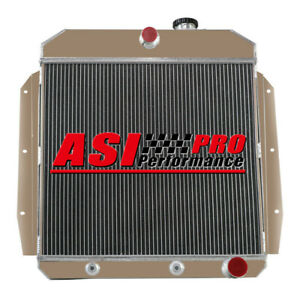 4 Row Radiator For 1955 1959 1956 1957 Chevy Truck 3100 3200 3400 3500 3600 3800