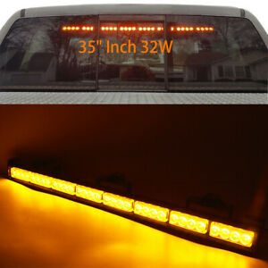 34 32led Amber Emergency Traffic Adviser Directional Arrow Strobe Light Bar Hot