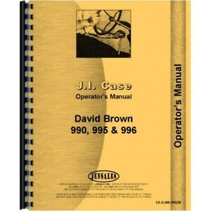 Case David Brown 990 995 996 Diesel Tractor Operators Owners Manual Early S n