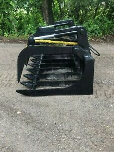 Blue Diamond Extreme Root Rake Grapple Great For Large Skid Steer Small Loader