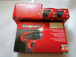 Snap On 3 8 10mm 18v Monster Compact Cordless Impact Wrench 2x Battery Charge