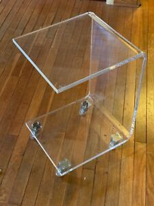Vintage Lucite Table C Shape Mid Century Hollywood Regency Excellent Condition