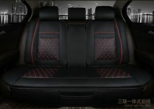 Faux Leather Car Back Seat Cover Mat Universal Rear Chair Auto Cushion Protector