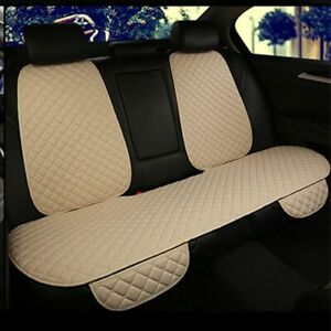 Universal Flax Car Back Seat Cover Rear Chair Protector Auto Interior Accessory