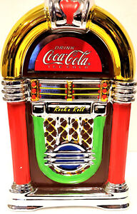 Coca-Cola Rock'n Roll Jukebox Cookie Jar 2002 Gibson CIB