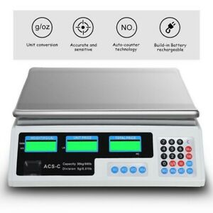 Postal Weight Scale Digital Lcd Display Shipping Parcel Retail Market Food Meat