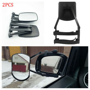 2pc Truck Suv Rv Universal Clip On Trailer Towing Side Mirror Extender Extension