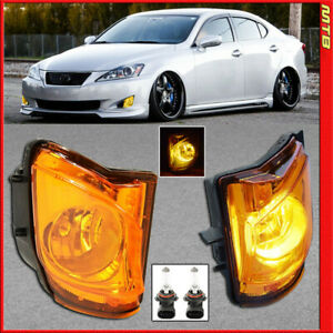 Fog Lights Amber Lens With Halogen Bulbs Foglamps For Lexus Is250 Is350 06 10