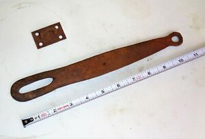 Antique Barn Farm Gate Door Cast Iron Hand Forged Hasp Latch Lock 11 Long