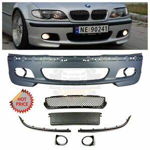 Bmw E46 Mtech M Tech Style Front Bumper Without Fog Lights 1999 2005 Sedans