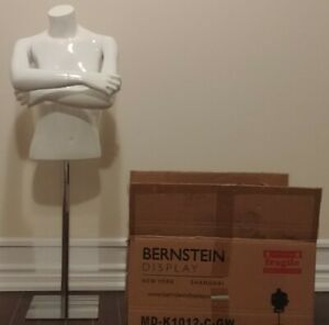 Bernstein Kids 1 2 Mannequin Girl Size 10 12 Fiberglass Gloss White Square Base