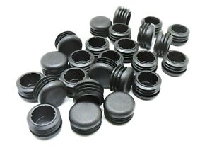 1 1 4 1 250 Round Finishing Plugs tubing Caps 32mm Plugs chair Glides black