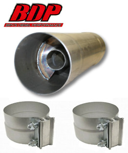 Fte Resonator Muffler 5x30 For 5 Exhaust Piping Rm5530a W clamps