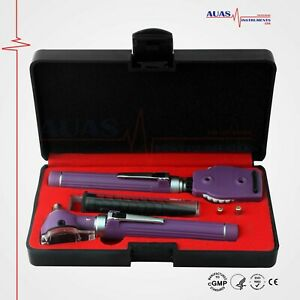 Special Edition Fiber Optic Otoscope Ophthalmoscope Led Diagnostic Ent Set Ce