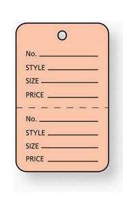 Pink Unstrung Large Coupon Price Tags 1 W X 2 h Inches Pack Of 1000