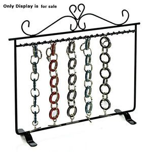 New Black Metal Hanging Bracelet Display With Dual Stand Base 11 75 w X 11 25 h