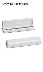 Faux Leather Bracelet watch Box In White 2 X 2 X 1 Inches Case Of 10