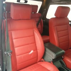 Katzkin Replacement Red Leather Seat Covers 2008 2009 2010 Jeep Wrangler 4 Door