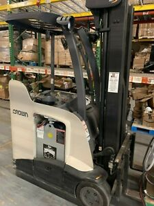 2014 Crown Electric Stand up Forklift W Charger