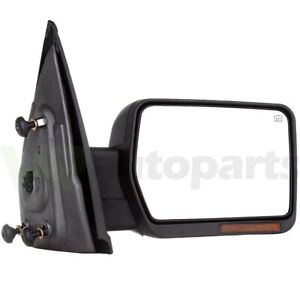 2004 14 Ford F150 Power heated Led Signals Right Chrome Passenger Side Mirror Rh