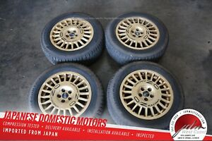 Oz Racing Rally Raid Rims 16x7 Rare 5x100 215 60 16 Tires Included