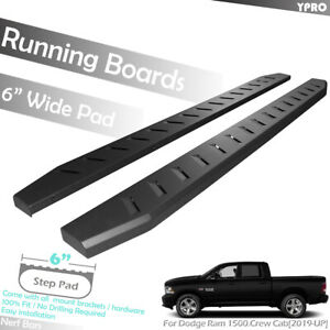 Fit New 2019 2020 Dodge Ram 1500 Crew Cab Black 6 Side Step Oe Running Boards