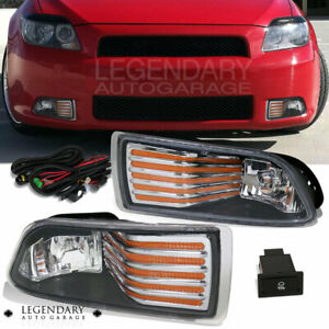 2005 2010 Scion Tc Coupe Front Fog Light Amber Strip Wiring Switch Unit Kit