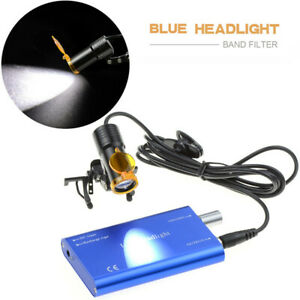 Dental 5w Led Head Light Metal Clip on With Filter For Glasses Loupes Blue