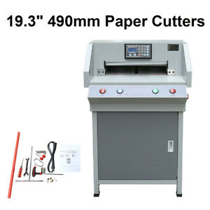 19 3 490mm Paper Cutters Trimmers Guillotines Cutting Machine Office Electric