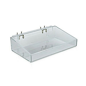 Plastic Clear Open Tray 12w X 7d X 3h Inches Pack Of 2