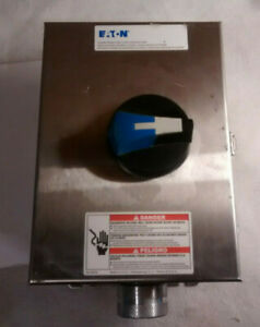 Eaton Er53030uw Stainless Steel Rotary Disconnect 30a 3p 600vac 4x Enclosure