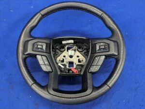 2015 2016 2017 Ford F 150 Pickup Truck Leather Steering Wheel W Cruise Control