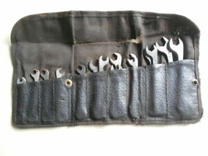 Vintage Cornwell Small Wrench Set Of 15 In Old Pouch Size 3 16 1 2 Original