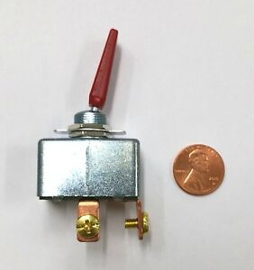 New Spst On Off 50a 12v Dc High Current Automotive Red Toggle Switch