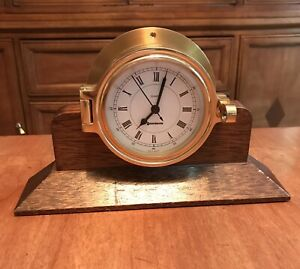 Benchmark Ship S Bell Mantle Clock Made In Germany Time Only Clock Ships Fast