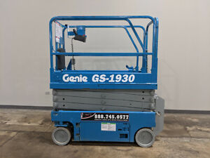 2011 Genie Gs1930 Non marking Cushion Scissor Lift W Built In Charger