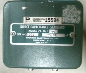 Boonton Electronics 76 1a 35 Direct Capacitance Standard 35 01pf free Shipping