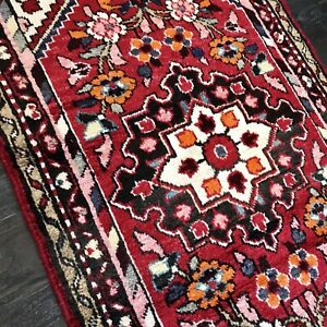 Stunning C 1940 Vintage Antique Exquisite Hand Made Rug 2 6 X 4 3