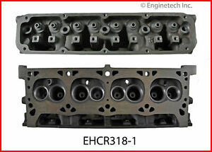 Enginetech Ehcr318 1 Cyl Head Bare Chry 318 360 Magnum