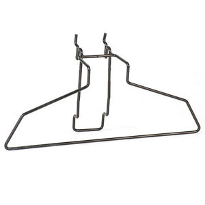 Hanger 14 Inch In Black Finish Fits Slatwall And Grid Case Of 10