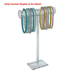 Acrylic Clear Singlepole Necklace Counter Display 21h X 14w Inches Case Of 2