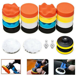 22pcs 3 Buffing Waxing Polishing Sponge Pads Kit Set For Car Polisher Drill Us