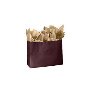 Wineberry Glossy Paper Large Shopping Bags 16 X 6 X 12 Inches Case Of 25