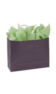 Plum Paper Large Shopping Bag 16 X 6 X 12 Inches Count Of 25
