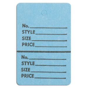 Perforated Merchandise Tags 1 1 2x1 3 4 Inches In Blue 1000 Pc