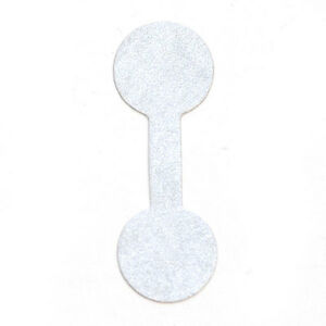 Metallic Jewelry Tag 1 3 8x1 2 Inches In Silver Lot Of 1000