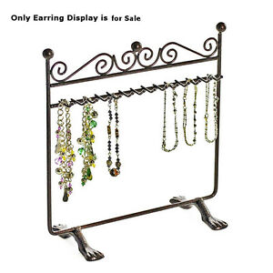 Black Metal Hanging Bracelet Display bronze With Dual Stand Base 8 25 w X 9 h