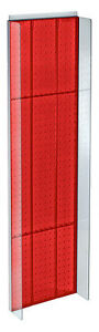 New Retails Red Plastic Pegboard Powerwing Display 14 w X 44 high